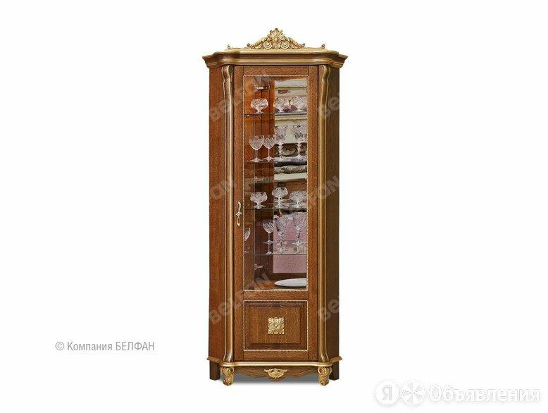 """Шкаф с витриной угловой """"Алези 10 Люкс"""" (правый); античная бронза с золочением по цене 95984₽ - Шкафы, стенки, гарнитуры, фото 0"""