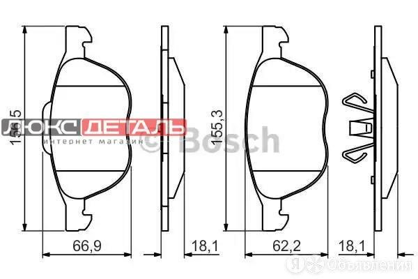 BOSCH 0986495215 Колодки тормозные дисковые  перед   по цене 2029₽ - Тормозная система , фото 0