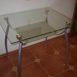 Столы и столики - Стол стеклянный кухонный двухуровневый, 0