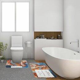 Дизайн, изготовление и реставрация товаров - Коврик для ванной  двойной Ботичелли 800*500 500*400 велюр 5399381, 0