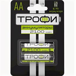 Зарядные устройства и адаптеры питания - Аккумуляторная батарея ТРОФИ HR6-2BL 2100 mAh (20/240/14400), 0