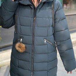 Куртки - Женская зимняя длинная куртка большого размера р-ры 56-70, 0