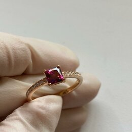 Кольца и перстни - Кольцо с кристаллом сваровски , 0