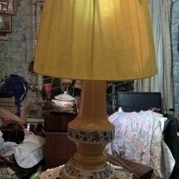Настольные лампы и светильники - Антикварная лампа с абажуром, 0