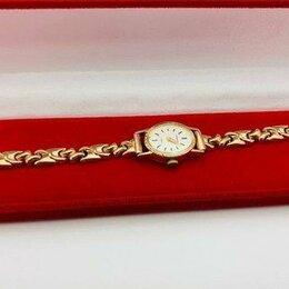 Наручные часы - Б.Х,Часы Чайка женские с золотымбраслетом,id 32798, 0