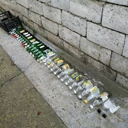 Бутылки - Бутылки 0.5 л, 34-шт, стекло, винтовые крышки, 0