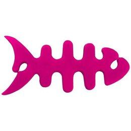Аксессуары для наушников и гарнитур - Удобное приспособление для проводов наушников - Скелет рыбы белый, 0
