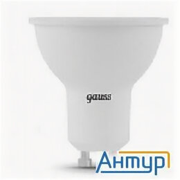 Лампочки - Gauss 101506105 Светодиодная лампа Led Mr16 Gu10 5w 500lm 3000k 1/10/100, 0