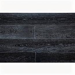 Массивная доска - Массивная  доска Amber Wood Дуб Черно-белый браш лак 120, 0