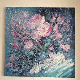 Картины, постеры, гобелены, панно - Цветочная композиция, картина маслом в раме, 0