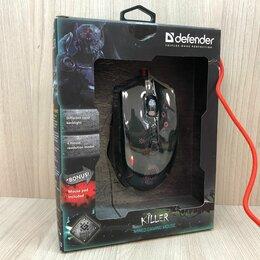 Мыши - Игровая мышь с ковром Defender Killer, новая, 0