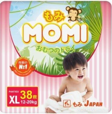 Трусики Momi размер XL 12-20 кг 38 шт по цене 700₽ - Подгузники, фото 0