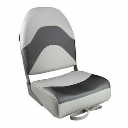 Походная мебель - Кресло складное мягкое PREMIUM WAVE, цвет серый/черный, 0