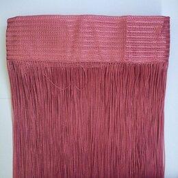 Шторы - 1мм Нитяные шторы Portgallery однотонные брусничные №6, плотные, 0