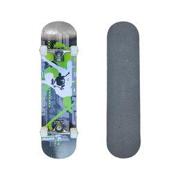 Скейтборды и лонгборды - Скейтборд torrent NFR-3108W Черный, зеленый, 0