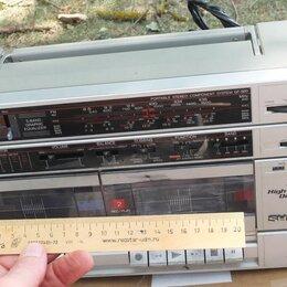 Музыкальные центры,  магнитофоны, магнитолы - 2х кассетная магнитола sharp, 0