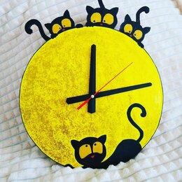 Часы настенные - Настенные часы ручной работы *Котики*, 0