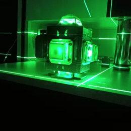 Измерительные инструменты и приборы - Лазерный уровень нивелир 4d 16 линий зелёный луч, 0