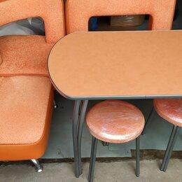 Столы и столики - Стулья и стол для малогабаритной кухни оранжевая, 0