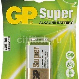 Батарейки - Батарейка  GP Super MN1604 (6LR61)  крона  алкалиновая, ВС1 GP 1604F-5CR1, 0
