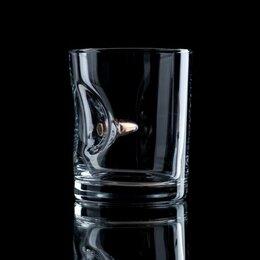 """Посуда - Стакан """"Непробиваемый"""", с пулей, для виски, 250 мл, 0"""