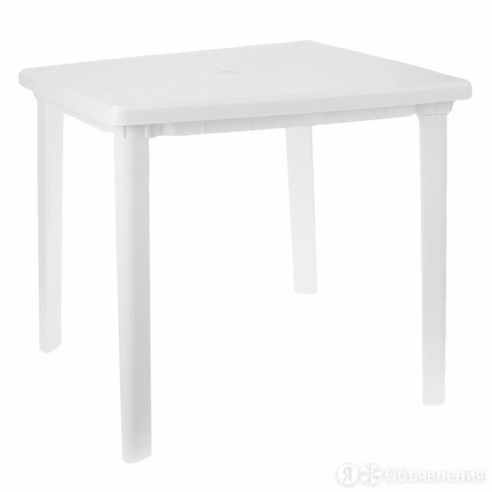 Стол квадратный, размер 80 х 80 х 74 см, цвет белый по цене 2567₽ - Столы и столики, фото 0
