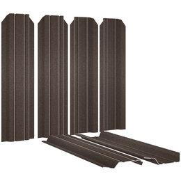 Заборы, ворота и элементы - Евроштакетник Узкий 85мм RAL8017/8017 МАТОВЫЙ Шоколад 2-х сторонний под Стал..., 0