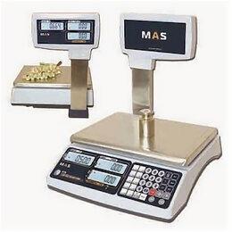 Весы - Весы электронные торговые со стойкой MAS MR1-15P, 0