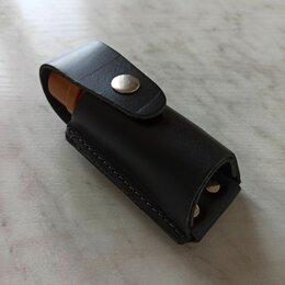 Кейсы и чехлы - Чехол для газового баллончика 65 мл кожаный с клипсой, 0