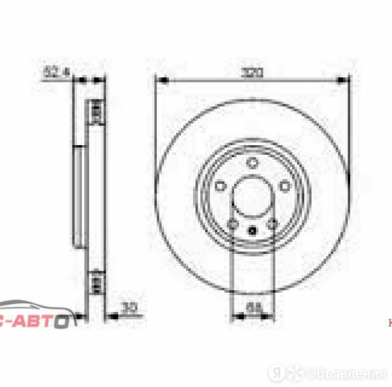 Диск тормозной AUDI A4 B8;A5;Q5. ПЕРЕДНИЙ        320 Х 30  5 Х 112 2047127  по цене 3600₽ - Тормозная система , фото 0
