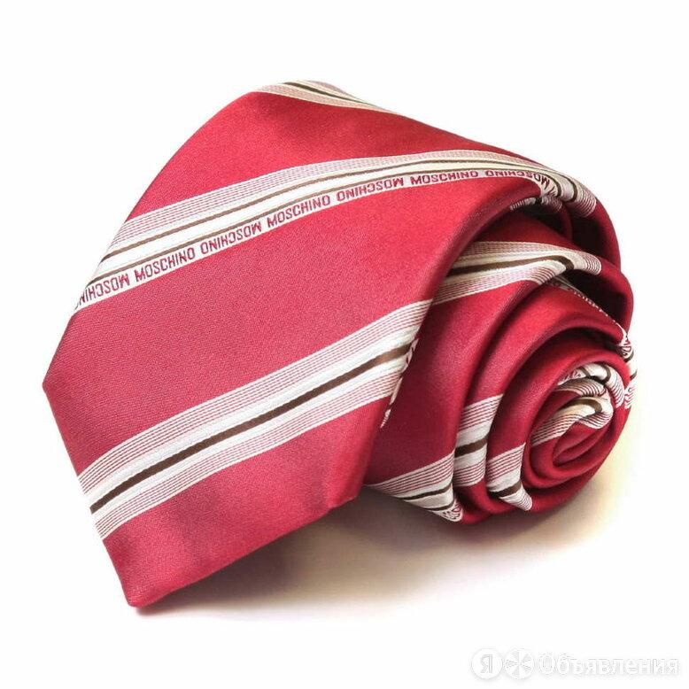 Красный галстук с белыми полосками Moschino 36083 по цене 4900₽ - Галстуки и бабочки, фото 0