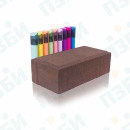 Тротуарная плитка, бордюр - Брусчатка 200х100х60 ЭКОНОМ тротуарная плитка коричневая, 0