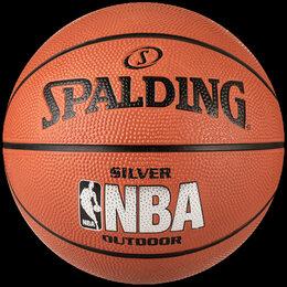 Мячи - Мяч баскетбольный №6 SPALDING NBA SILVER с логотипом NBA 83015 , 0