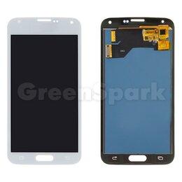 Дисплеи и тачскрины - Дисплей для Samsung G900 Galaxy S5 + тачскрин (белый) (copy LCD), 0