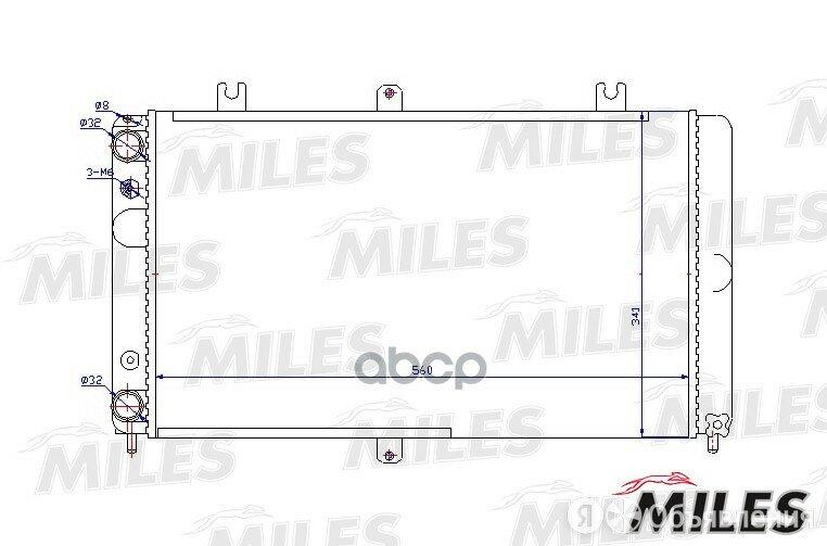 Радиатор Lada Priora 07- Miles арт. ACRM483 по цене 2071₽ - Отопление и кондиционирование , фото 0