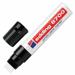 Фактурные декоративные покрытия - Маркер-краска лаковый (paint marker) EDDING 8700 JUMBO, 5-18 мм, БЕЛЫЙ, скошенны, 0