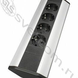 Электроустановочные изделия - Блок розеток угловой TRINGLE, 4 розетки EURO, 250В, max 2700Вт, кабель 2м с вилк, 0