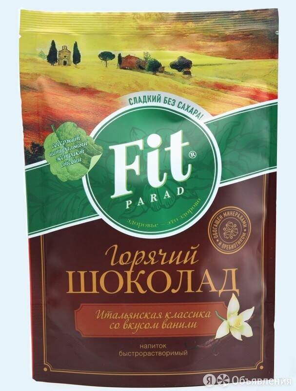 Горячий шоколад со вкусом ванили 200 г, ФитПарад по цене 227₽ - Ингредиенты для приготовления напитков, фото 0