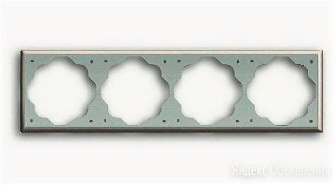 Рамка четверная, ABB Impuls, шампань по цене 2000₽ - Товары для электромонтажа, фото 0