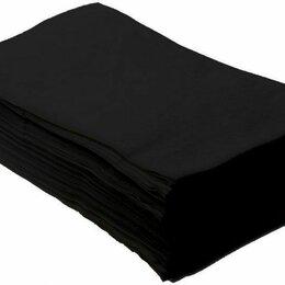 Полотенца - Полотенце 35*70, 50 г/м2 ЧЕРНОЕ вафельное (50 шт) пачка, 0