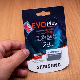 Карты памяти - Карта памяти Samsung microSDXC EVO Plus 128Gb U3, 0