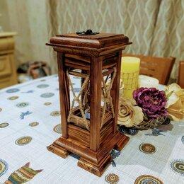 Ночники и декоративные светильники - Деревянный фонарь ручной работы, 0