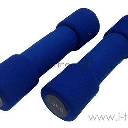 Защита и экипировка - Гантели неопреновые Atemi, Ad033, 1,5 кг, Nbr, 2 шт, 0