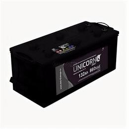Блоки питания - Аккумулятор Unicorn Grey 132 Ач 880А евро, 0