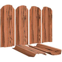 Заборы, ворота и элементы - Штакетник металлический Широкий 115мм под дерево Кипарис 2-х сторонний Print..., 0