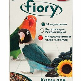 Корма - FIORY д/средних попугаев 800г Parrocchetti Africa 06030, 0