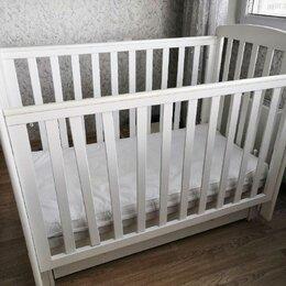 Колыбели и люльки - Детская кроватка белая с маятником, 0
