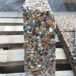 Тротуарная плитка, бордюр - бордюр садовый  из мытого бетона, 0