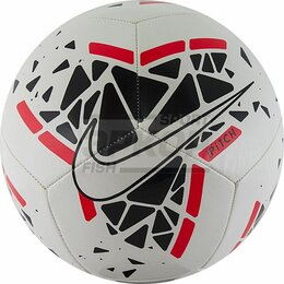 Развивающие игрушки - Мяч футбольный Nike Pitch №5 ТПУ машин сшивка бутил камера 12 панелей бело-чёрно, 0