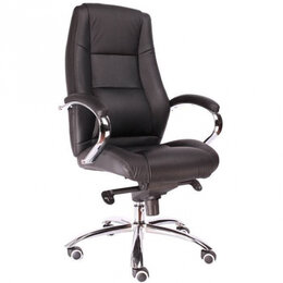 Компьютерные и письменные столы - Кресло Everprof Kron M Кожа Черная, 0